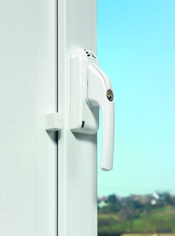 abus abschlie barer fenstergriff mit alarm fg300a silber. Black Bedroom Furniture Sets. Home Design Ideas